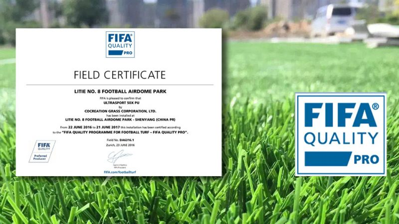 FIFA Quality Pro Awarded to CCGrass in Top Chinese Footballer's Hometown