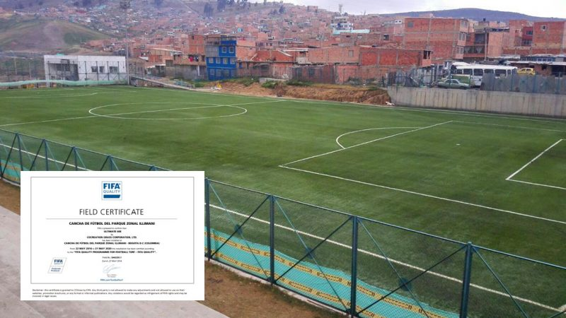 CCGrass Pitch Provides More Goals for a Better Life in Bogota
