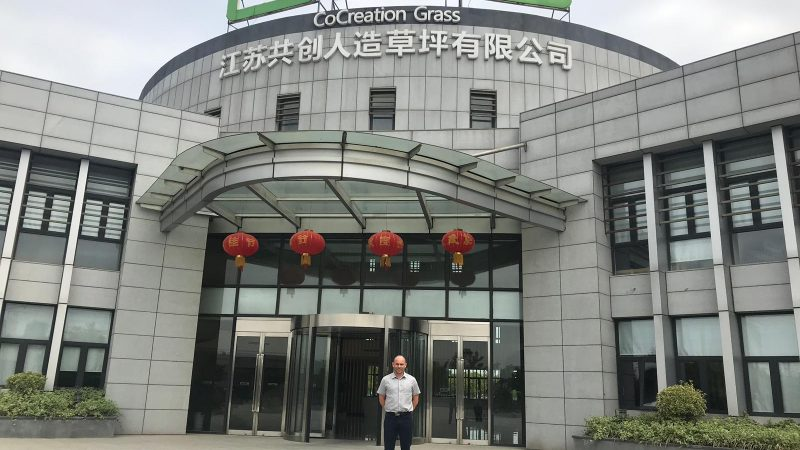 Jamie Forrester visiting CCGrass in China