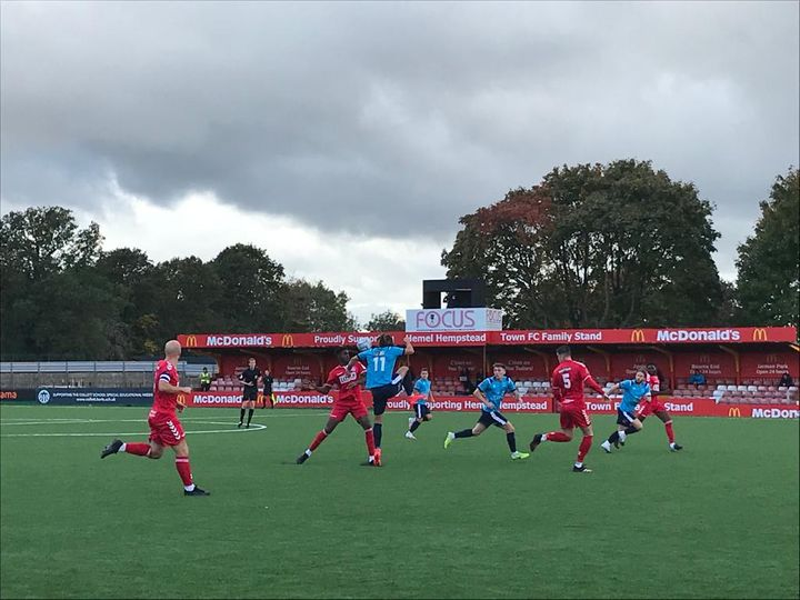 Hemel Hempstead first National South game on their new pitch