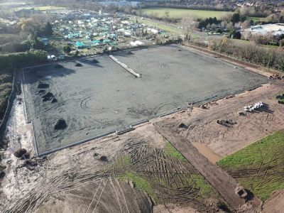 Drone view of proposed pitches