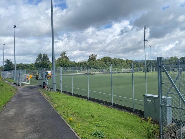 Maplesden Noakes School artificial grass pitch before