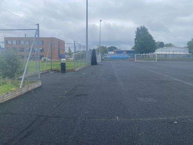 Maplesden Noakes School artificial grass pitch shock pad installation