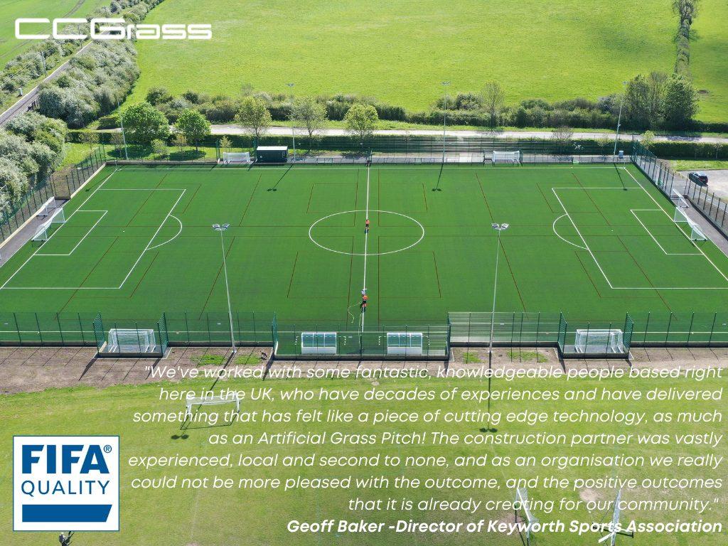 CCGrass artificial grass pitch at Keyworth United Community Football Club
